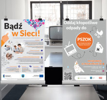 "Plakat ""PSZOKu"" + projektu ""Bądź w Sieci"""