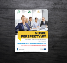 "Ulotka projektu ""Nowe Perspektywy"""